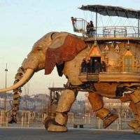 Elephant Robot Bus