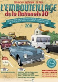 Themes Vintage illustrations/pictures - French Poster with old cars