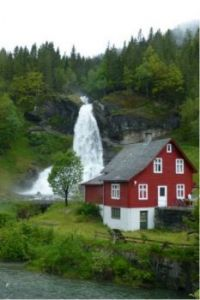 Waterfall in Norway