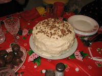 Hummingbird Cake - Christmas dessert at our friend April's house
