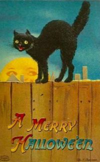 A Merry Halloween, 1912, Ellen Clapsaddle (1865-1934)