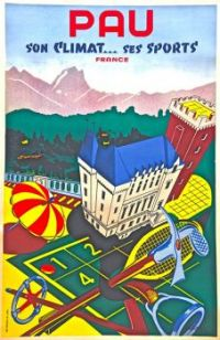 PAU, FRANCE - WINTER SPORTS POSTER