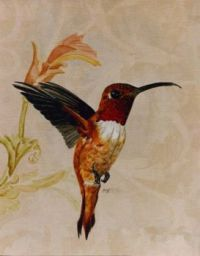 Hummingbird Art by Mildred King