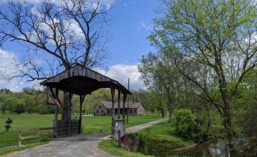 A private little covered bridge near Nashville, Tennessee, USA