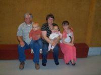 grandpa don, ronnita, brennen, addie, rylynn@ don's 60th