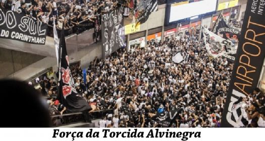Corinthians x Chelsea - Corinthians' fans in the  Sao Paulo Airport last night
