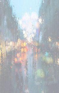 Rain and lights on a window