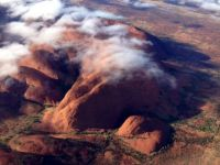 Clouds over The Olgas