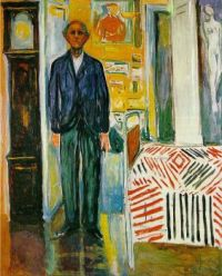 Self-portrait. Between the clock and the bed - Autoportrét. Mezi hodinami a postelí - 1943