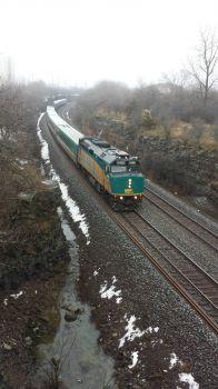 Via train to Montreal passing through Kingston, Ontario