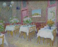 Interior of a restaurant by Vincent van Gogh summer 1887