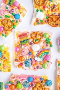 Rainbow Bark Candy