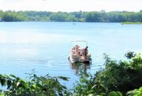THEME:  Summer Bliss ~~ My Nephew on Pontoon Boat out back ... 6-14-2020