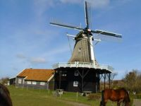Heritage mill on Ameland the Netherlands