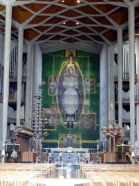 The Tapestery Christ in Glory by Graham Sutherland in Coventry Cathedral  (2)
