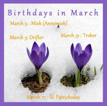 Birthdays in March