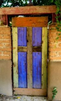 simple door in Sante Fe