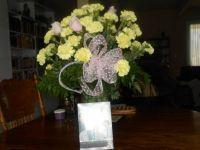 39th Anniversary Gift - 39 Carnations for the Years & 3 Pink Roses for our 3 Lovely daughters