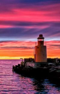 Lighthouse at Sunset...