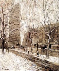 Ernest Lawson--The Flatiron Building, ca. 1903-1905