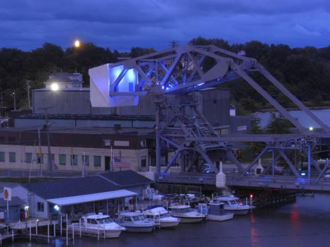 Bascule Lift Bridge at dusk