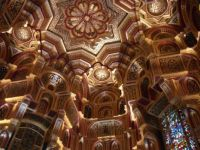amazing ceiling in cardiff castle