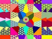 Patchwork Flower with Simple Patterns