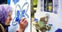 90-year-old Grandma in the Czech Republic passes time by artistically painting houses.jpg