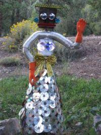Disco Lady Scarecrow