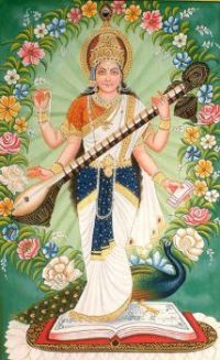 Saraswati-Hindu goddess of knowledge and arts