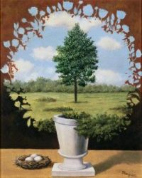 """Themes """" Famous paintings"""",  R. Magritte"""