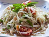 ส้มตำไทย Som Tum : Thai Green Papaya Salad
