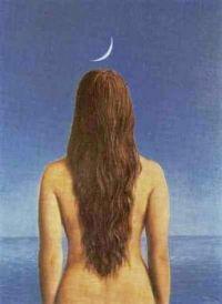 René Magritte - Femme de dos, 1954