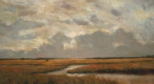 clouds and marsh