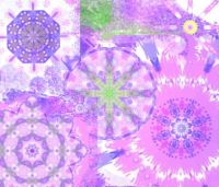 Purple and Pink Kaleidos: Large