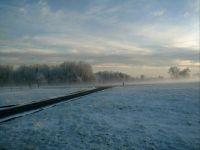 Snowy fog