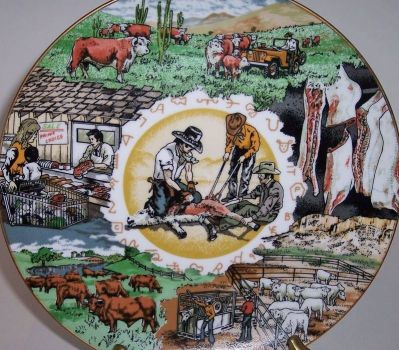 Tribute to the Beef Industry plate