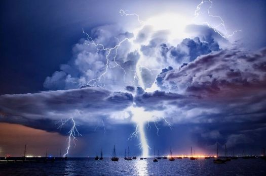 Super bolt over Avalon Airport in Melbourne, Australia.  Photograph by James Collier