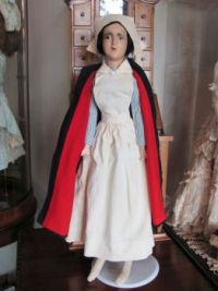Unusual Nurse Boudoir Bed Doll  Representing The Wonderful Nurses of a Time Gone by circa 1920-30