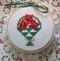 Poinsettia Basket #8545