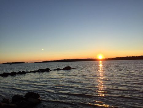 Sunset over the St Lawrence River
