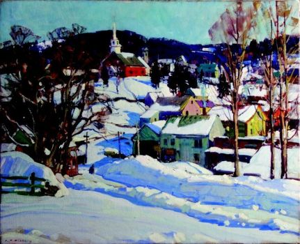 winter scene by A.T. Hibbard