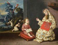 """Santa Rosa de Lima"", Peruvian School, 18th Century."