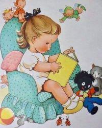 Vintage girl reader