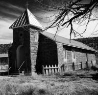 Old NM mission church building