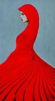 Red Art: Lady in Red