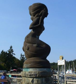 Mermaid statue, Salt Spring Island