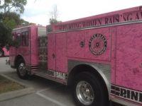 Breast Cancer Awareness Fire Truck