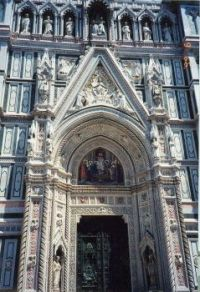 Cathedral Facade Florence, Italy 2