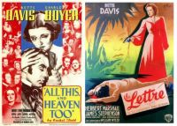 All This and Heaven Too ~ 1940 and La Lettre ~ 1940
